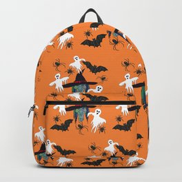 Halloween pattern Witch Monsters Backpack