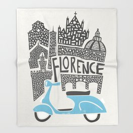 Florence Cityscape Throw Blanket