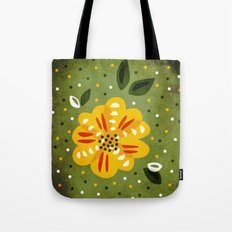 Abstract Yellow Primrose Flower Tote Bag