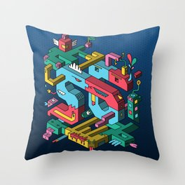 Font of all Known Ledges Throw Pillow
