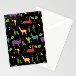 Llama pattern 2 Stationery Cards
