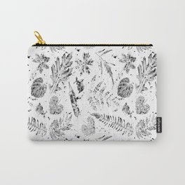 Painterly Leaf Print Carry-All Pouch