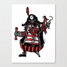 The Captain Pirate inspired by Captain Pugwash Canvas Print