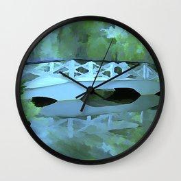 Blue Bridge Wall Clock