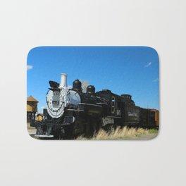 Old Steam Engine - Denver - Rio Grande Railroad Bath Mat