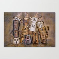 Coffeehouse - draw Canvas Print