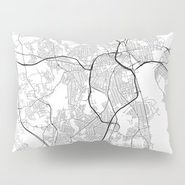 Minimal City Maps - Map Of Providence, Rhode Island, United States Pillow Sham