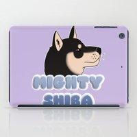 shiba iPad Cases featuring Mighty Shiba by Cheesey