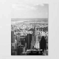 Black and White. Chrysler Building, New York. Canvas Print