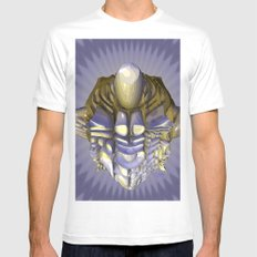 Enlightenment White Mens Fitted Tee MEDIUM