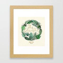 Proverbs 31:25 Framed Art Print