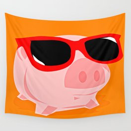 Cool Pig Wall Tapestry