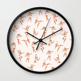 Dance Girl Pattern 002 Wall Clock