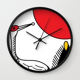 JANUARY CRANE Wall Clock