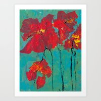 Dance of the Poppies Art Print