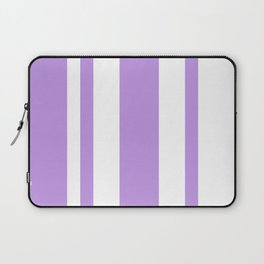 Mixed Vertical Stripes - White and Light Violet Laptop Sleeve