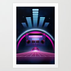 Boombox: Echos of Tomorrow Art Print