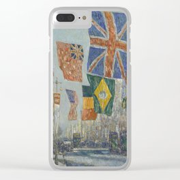 Childe Hassam - Avenue Of The Allies, Great Britain Clear iPhone Case