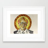 larry david Framed Art Prints featuring Larry David by Carson Kaiser