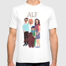 Alf Mens Fitted Tee SMALL White
