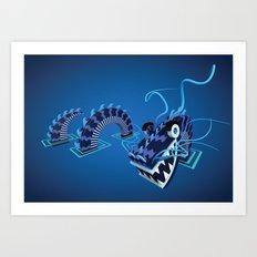 Dragon - Water Art Print