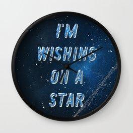 I'm wishing on a Star - 50 Years Moonlanding Wall Clock
