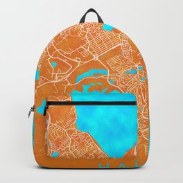 Halifax, NS, Canada, Gold, Blue, City, Map Backpack
