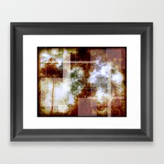 Forest Memories Abstract Orange Fire Framed Art Print