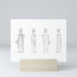 Caryatid Elevations Mini Art Print