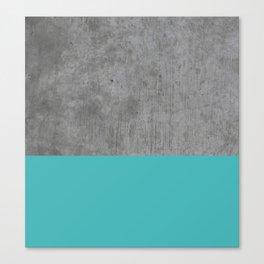 Concrete x Blue Canvas Print