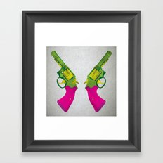 Play Guns Framed Art Print
