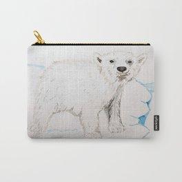 Watercolour Polar Bear Cub Carry-All Pouch
