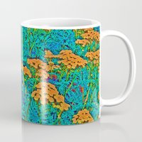 weed Mugs featuring Weed Patch by Anne Millbrooke