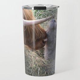 Highland Cow with Calf - Trixie & Ivan Travel Mug