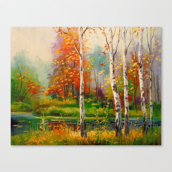Melody of autumn Canvas Print
