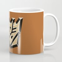 transformers Mugs featuring Transformers by FilmsQuiz