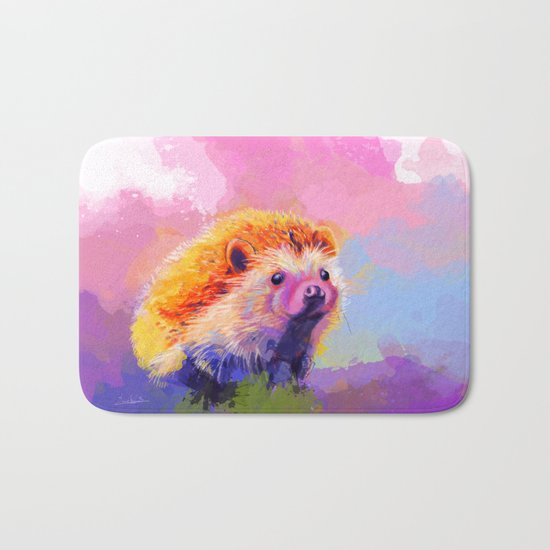 Sweet Hedgehog Bath Mat