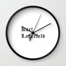 Karl Lagerfeld Calligraphy Wall Clock
