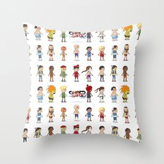 Super Street Fighter II Turbo Throw Pillow