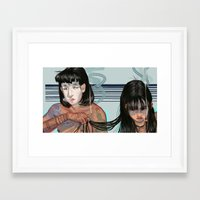 cigarette Framed Art Prints featuring Cigarette by theecrows