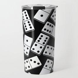Black and white domino seamless pattern Travel Mug