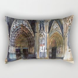 Koln cathedral's facade Rectangular Pillow