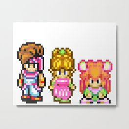 Secret of Mana Characters Metal Print