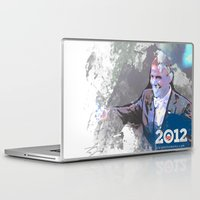 obama Laptop & iPad Skins featuring Obama 2012 by Ron Jones The Artist