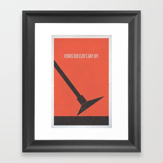 Ferris Bueller's Day Off minimalist poster Framed Art Print