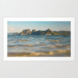 Ocean Sunset at El Nido Art Print