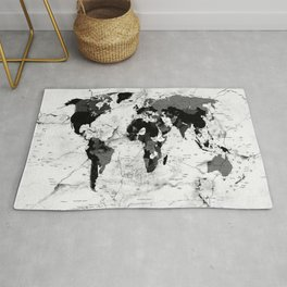 world map political marble Rug