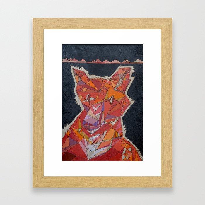 Pete the Fox Framed Art Print