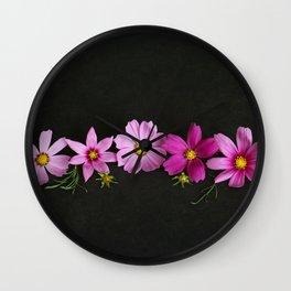 Cosmos on Black Wall Clock