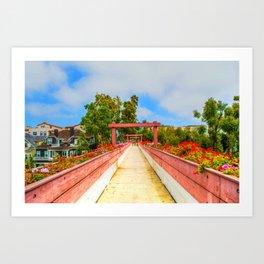 Pink Bridge Art Print